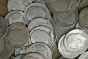 1952-p -1956-p Roosevelt Dimes Roll 90 Silver - Great Value -m-2972