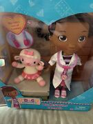 """Doc Mcstuffins And Lambie 8"""" Doll Set Brand New And Sealed"""