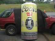 Very Large Coors Aluminum Beer Can Sign 77 Inches Tall