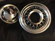 1956 Chevy Bel Air Parts 5 New Wire Hubcapsandnbsp