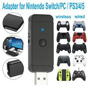 For Ps5/ Ps4/ Ps3 Xbox One/360 Usb Bluetooth Controller Adapter Audio Tranceiver
