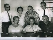 1962 Photo Officers Of Telephone Pioneers Mrs Jh Taylorleon J Cox 8x6