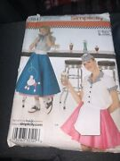 New Simplicity 50's Diner Poodle Skirt Costume Sewing Pattern 3847 Sz 6-12