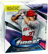 2021 Topps Finest Baseball Hobby 8 Box Case Blowout Cards