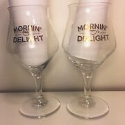 2 Toppling Goliath - Morninand039 Delight Stout Beer Teku Glasses Microbrewery Ia