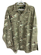 Vintage Orvis Fly Fishing Button Up Shirt Mens Large Brown Heavy Cotton Flannel