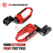 For Cbr400rr Cbr250rr Crossrunner Cnc 40mm Extended Front Touring Foot Pegs -mc