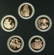 East African Wild Life Society's Big Game Medal Proof Set Patron's Edition Rare
