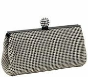 Whiting And Davis Crystal Ball Clutch Evening Bag With Chain Pewter Nwt 225 Msrp