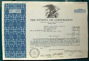 Nyvatex Oil Corporation 1979 Stock Certificate Payee Merrill Lynch Broker Cede And