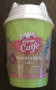 Brand New Kitten Catfe Purrista Girls Series 2 Coffee Cup Doll Pack Green Sealed