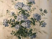 Colefax And Fowler Plumbago Bouquet Glazed Polished Cotton Fabric 3 Yds 54 Wide