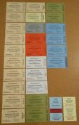 1973 Richard Nixon Inauguration Tickets - Group Of 28 Different