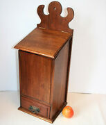Antique Church Candle Box With Drawer Arts And Crafts Mahogany Wood Large 23.5in