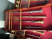 Harry Potter Wand Set 37 Wands With Display Cases And A Wand Stand.andnbsp
