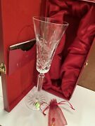 Waterford Crystal Lismore 12 Days Of Christmas Partridge 1st Champagne Flute