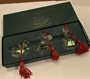 Marquis Waterford Crystal 3rd In Series Ornaments 12 Days Of Christmas Set Of 3