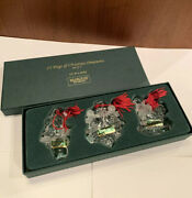 Marquis Waterford Crystal 1st In Series Ornaments Set Of 3 12 Days Of Christmas