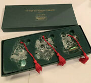 Marquis Waterford Crystal 1st In Series Set Of 3 Ornaments 12 Days Of Christmas