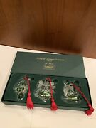 Marquis Waterford Crystal Set Of 3 1st In Series Ornaments 12 Days Of Christmas