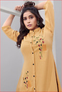 Combo Of 3 Cotton Hand Embroidery Work Stylish Tunic Shirts For Women Party Wear