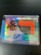 2018 Teal Phoenix Nick Chubb Rookie Auto 2-color Patch 1/10 Cleveland Browns.
