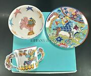 And Co Fantasy By Gene Moore 1997 3pc Childs Dinnerware Collection W/box