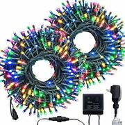 Christmas Indoor String Lights 500 Led 176 Ft Outdoor Mini Lights For Tree Green
