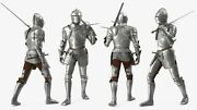 Medieval Armour Costume 3d Knight Plate Full Body Armor Suit