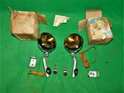 🔥 Nos 1937 1939 1940 1941 1948 1953 Chevy Accessory Amber Fog Lights Guide 890