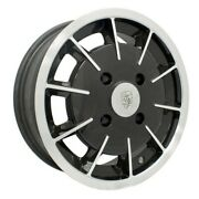 Gasser Wheel Black With Polished Lip 5.5 Wide 4 On 130mm Dunebuggy And Vw