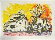 Tom Everhart Blow Dry Hand Signed Lithograph Coa S2 Art