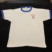 Vintage Ochsner Blood Bank Ringer T-shirt 80's Give Blood Meant To Circulate Xl