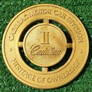 Cadillac Heritage Of Ownership Badge Emblem Medallion Oem Factory Grill Ii 2 Two