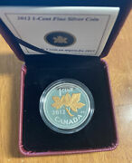 2012 1 Cent Fine Silver Coin With Gold Plating Farewell To The Canada