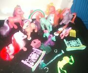 Lot Of My Little Pony Figures 1997 And 98 Plus Accessories 1 Motion++