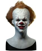 Silicone Mask | Pennywise It Clown | Realistic Halloween Mask | Spfx