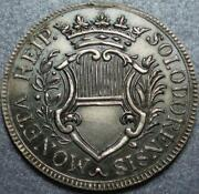 1760 Only Old Swiss Canton And Republic Of Solothurn Rare And Nice Silver 20 Kreuzer