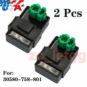 2pcs Cdi Ignition Control Module For 30580-758-801 Honda Gx640 H4518h And H5518 Us