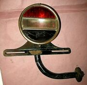 1929-30 Buick Tail Light Complete With Bracket And License Plate Holder Tail Lamp