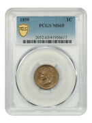 1859 1c Pcgs Ms65 - Popular 1-year Type Coin - Indian Cent