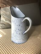 Vintage French Enamelware Chickenwire Pitcher.