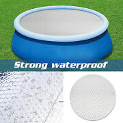Above Ground Swimming Pool Cover For Winter Round Safety Pe White Dust-proof