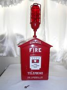 Gamewell 1950's Fire Alarm Call Box Telephone Phone Station Old Vintage Police
