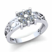 Genuine 1.50ct Round Diamond Menand039s Classic Cluster Wedding Band Solid 14k Gold
