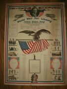 Antique Original Wwi Us Army Co. B Military Record Poster Eagle Flag 1917