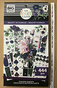 New Me And My Big Ideas The Happy Planner Beauty In Florals Value Pack Stickers