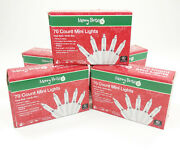 Lot Of 5 70 Count Mini Lights Clear Bulb / White Wire 15' - Christmas /wedding
