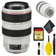 Canon Ef 70-300mm F/4-5.6l Is Usm Lens Table Top Tripod Lens And Lcd Screen Prote