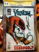 What If Venom Possessed Deadpool 1 Cgc 9.8 Signed Stan Lee And Rob Liefeld